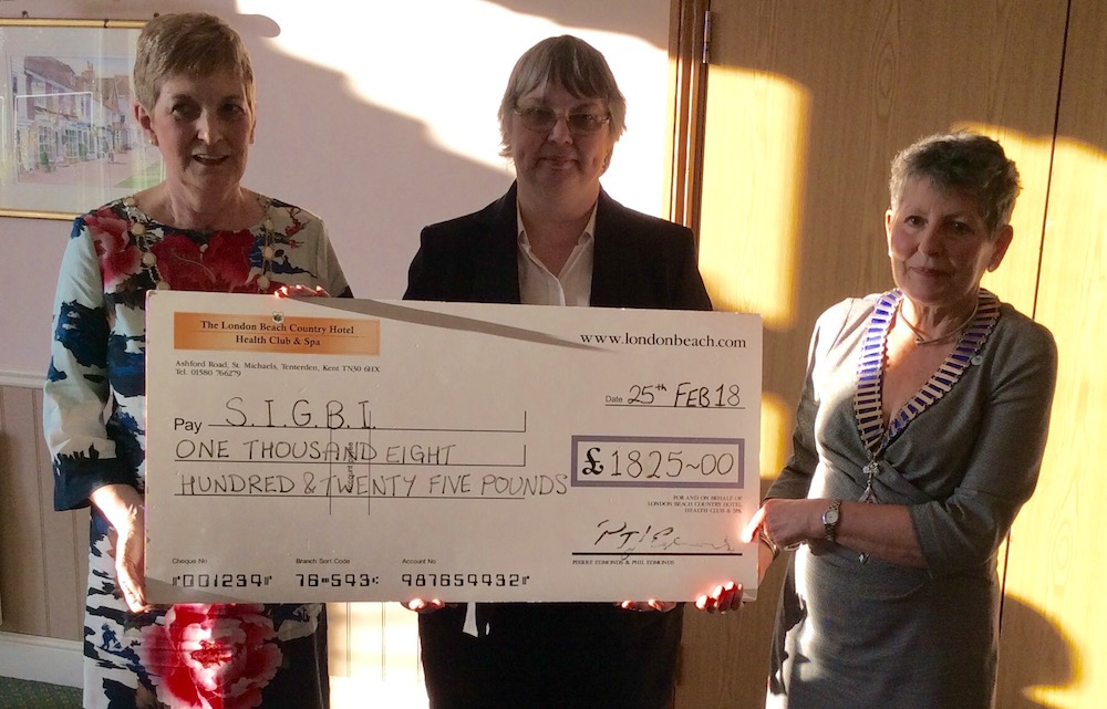 Cheque presentation from London Beach Hotel