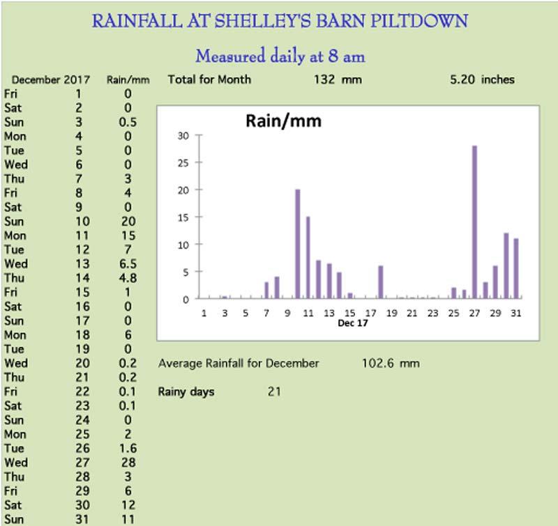 December rainchart