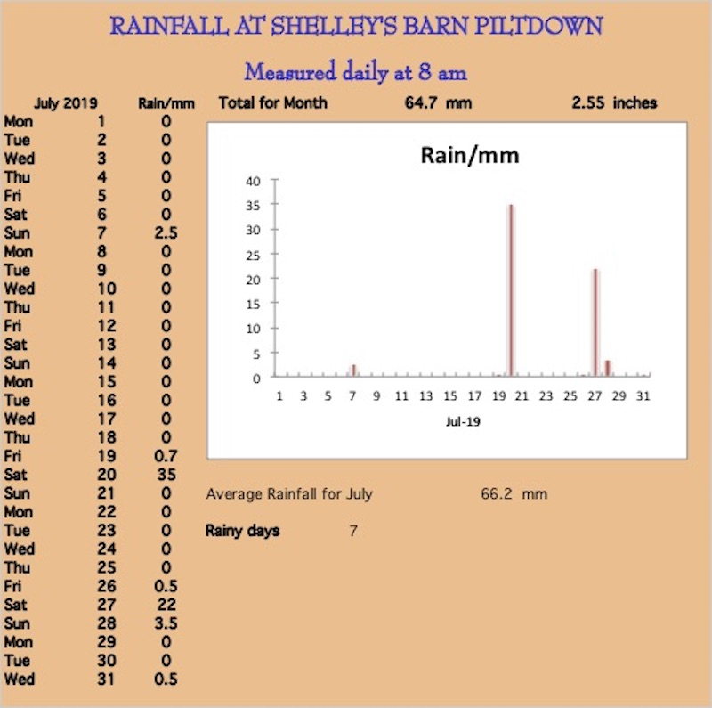 June rainchart